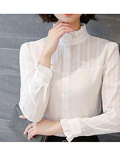 billige Skjorte-Dame - Ensfarvet Basale Skjorte