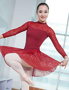 tanie Stroje baletowe-Balet Sukienki / Body Damskie / Dla dziewczynek Szkolenie / Spektakl Elastyna / Lycra Koronka Długi rękaw Trykot opinający ciało / Śpiochy dla dorosłych