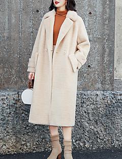 Χαμηλού Κόστους Γυναικεία Παλτό & Καμπαρντίνες-Γυναικεία Παλτό Κομψό στυλ street - Μονόχρωμο