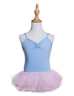 tanie Stroje baletowe-Balet Sukienki Dla dziewczynek Szkolenie / Spektakl Bawełna / Spandeks / Tiul Jak fala / Materiały łączone Bez rękawów Sukienka
