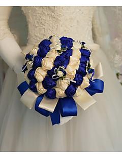 economico Accessori per matrimonio-Bouquet sposa Bouquet Matrimonio / Ricevimento di matrimonio Pietra dura e cristallo / Seta 11-20 cm