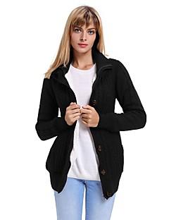 baratos Suéteres de Mulher-Mulheres Diário Moda de Rua Sólido Manga Longa Padrão Carregam, Com Capuz Outono / Inverno Cinzento / Cinza Claro / Azul Real L / XL / XXL / Cintura Alta