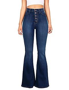 billige AW 18 Trends-Dame Grunnleggende Jeans Bukser Ensfarget