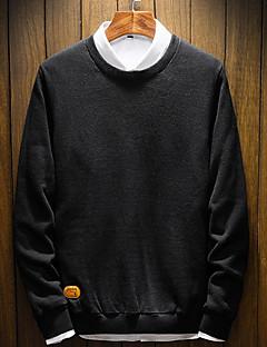 tanie Męskie swetry i swetry rozpinane-Męskie Moda miejska Pulower Solidne kolory