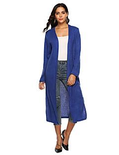 tanie Swetry damskie-długi, luźny, długi kardigan damski - jednolity kolor