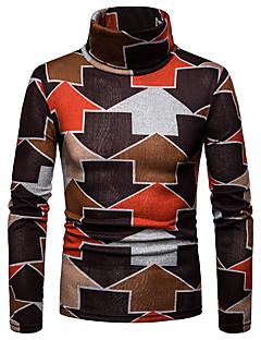 baratos Suéteres & Cardigans Masculinos-Homens Básico / Moda de Rua Pulôver - Estampa Colorida