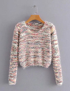 tanie Swetry damskie-damski sweter z długimi rękawami - kropka polka