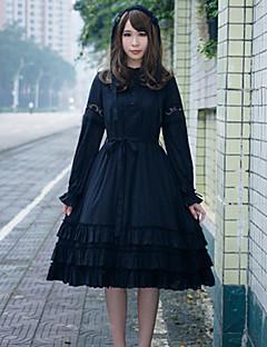 billiga Lolitaklänningar-Gotisk Lolita Punk Lolita Dam Klänningar Cosplay Kostymer / Dräkter Maskerad Cosplay Vit / Svart / Röd Puff Långärmad Knälång Kostymer