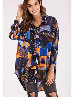 billige Skjorte-Dame - Geometrisk Basale Skjorte