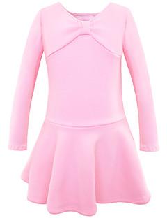 tanie Stroje baletowe-Balet Sukienki Dla dziewczynek Szkolenie / Spektakl Flanela Marszcząca się Długi rękaw Sukienka