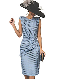 cheap Top Sellers-Women's Vintage Sheath Dress - Polka Dot Red Pink Light Blue XXL XXXL XXXXL / Sexy