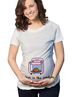 baratos Tops-Mulheres Camiseta Moda de Rua Desenho Animado