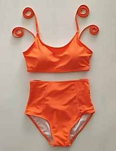 3f261bbd16 Women s Sporty   Basic White Black Orange Cheeky High Waist Bikini Swimwear  - Solid Colored   Floral Backless   Lace up M L XL