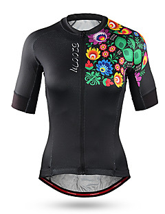 08f289f25 Mountainpeak Women s Short Sleeve Cycling Jersey - Black Floral   Botanical  Lolita Bike Jersey Top Sports Polyester Coolmax® Terylene Mountain Bike MTB  Road ...