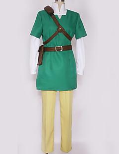 """billige Anime Kostymer-Inspirert av The Legend of Zelda Cosplay Anime  """"Cosplay-kostymer"""" Cosplay Klær Ensfarget Topp / Bukser / Mer Tilbehør Til Herre / Dame"""