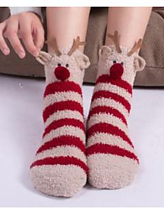 billige Sokker og strømper til damer-Dame Sokker - Geometrisk Varm