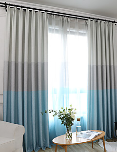 billige Gardiner-gardiner gardiner Soverom Stribe Polyesterblanding Trykket