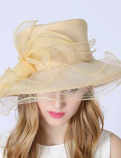billiga Lolitamode-Elizabeth Den underbara fru Maisel Felt hattar Kentucky Derby Hat hatt damer Vintage Dam Beige Blomma Keps Organza Kostymer