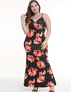 baratos Vestidos de Festa-mulheres plus size diária / festa assimétrica bainha vestido cinta rosa vermelho verde s m l xl