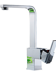 billige Foss-kjøkkenkran - moderne nikkelpolert keramisk ventil