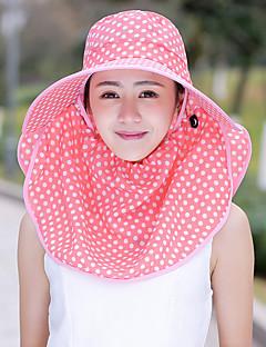 billige Hatter til damer-kvinners polyester solhue - polka dot