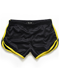 cheap Men's New Ins-Men's Active Slim / Shorts Pants - Solid Colored / Color Block Yellow / Sports / Summer