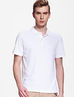 baratos Tops-T-shirt slim desportivo para homem - decote redondo em cor sólida