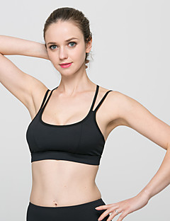 8d72fc731b496 LUCK PANTHER Women s Spaghetti Strap Removable Pad Sports Bra Black Sports  Solid Color Spandex Top Zumba Yoga Running Activewear Breathable Quick Dry  ...