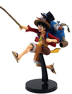 billige Anime cosplay-Anime Action Figurer Inspirert av One Piece Monkey D. Luffy PVC 20 cm CM Modell Leker Dukke