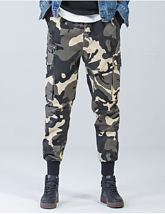 billige Herrebukser-Herre Gade Chinos Bukser camouflage