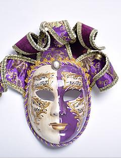 billige Halloween- og karnevalkostymer-Maske / Venetiansk maske Vintage Lilla / Rød Tøy Fest Cosplay-tilbehør Halloween / Karneval / Maskerade kostymer