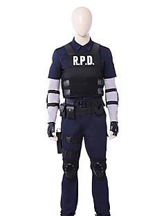 """billige Anime Kostymer-Inspirert av Resident Evil Annie Leonhardt Anime  """"Cosplay-kostymer"""" Cosplay Klær Ensfarget Langermet 1 Led T-Trøye / Vest / Genser Til Herre"""