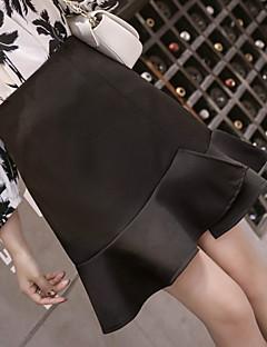 e6842b076e7 levne Dámské sukně-dámské koleno nad sukně - plné barvy