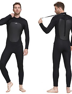 SBART Men s Full Wetsuit 3mm SCR Neoprene Diving Suit Long Sleeve Back Zip  Autumn   Fall Spring Summer   Winter   Micro-elastic 1b545a6c0