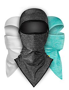 billige Sykkelklær-CoolChange balaclavas Ansiktsmaske Mørkegrå Grønn Grå Pustende Myk UV-bestandig Utendørs Trening Reise Sykkel Unisex Ensfarget Polyester polyster / Elastisk / Svettereduserende