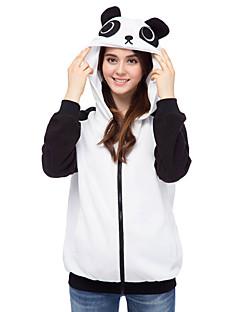 billige Kigurumi-Voksne Panda Onesie-pysjamas Polar Fleece Svart / Hvit Cosplay Til Damer og Herrer Pysjamas med dyremotiv Tegnefilm Festival / høytid kostymer