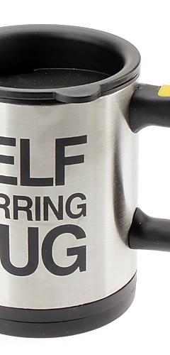 cheap -Mugs Automatic Electric Lazy Self Stirring Mug Cup Coffee Milk Mixing Mug Smart Stainless Steel Juice Mix Cup Drinkware