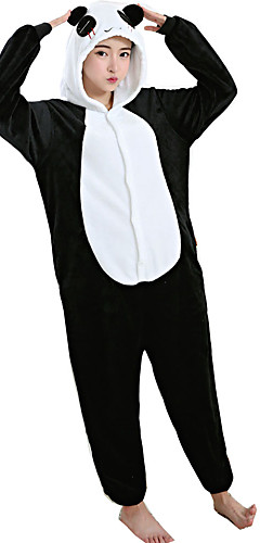 815116449f Adults  Cosplay Costume Kigurumi Pajamas Panda Onesie Pajamas Flannel  Toison White Cosplay For Men and Women Animal Sleepwear Cartoon Festival    Holiday ...