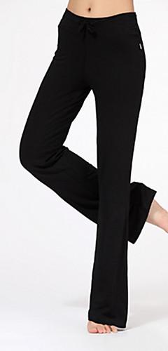 abordables -Femme Cordon Pantalon de yoga Des sports Mode Modal Leggings Zumba Pilates Danse Grandes Tailles Tenues de Sport Poids Léger Doux Power Flex Elastique Coupe Standard
