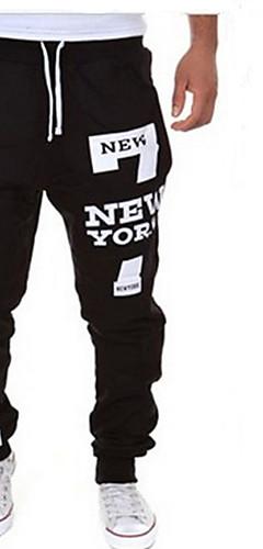 abordables -Homme Poche Pantalon Jogger Pantalons de Course Running Joggings Des sports Lettre et chiffre Pantalons / Surpantalons Bas Course / Running Fitness Entraînement de gym Grandes Tailles Tenues de Sport