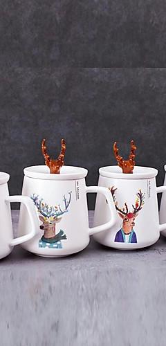 cheap -Drinkware Tea Cup / Glass / Mug Porcelain Cartoon / Boyfriend Gift / Girlfriend Gift Party / Evening