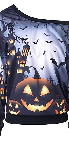 povoljno -Žene Halloween Sportska majica Geometrijski oblici