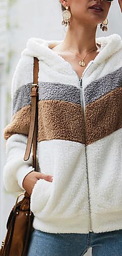 povoljno -Žene Ležerne prilike hoodie jakna Color block