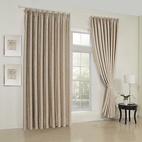 halpa Ikkunoiden verhot-räätälöidyt huone tummenevat verhot peittävät kaksi paneelia / kohokuvioitu / olohuone