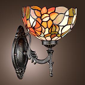 abordables Lampe Tiffany-TEWKSBURY - Lampe Murale Tiffany Florale - 1 slot à ampoule