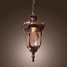 abordables Plafonniers-Lanterne Lampe suspendue Lumière d'ambiance Bronze Verre Style mini 110-120V / 220-240V Ampoule non incluse / E26 / E27