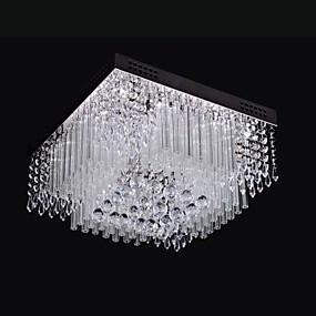 billige Krystall Lys-SL® Takplafond Omgivelseslys Krom Metall Krystall, LED 110-120V / 220-240V Hvit LED lyskilde inkludert / Integrert LED / Integrert LED