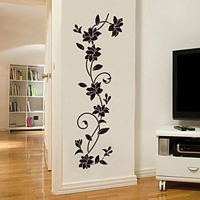 cheap Wall Stickers-Decorative Wall Stickers - Plane Wall Stickers Romance / Fashion / Botanical Living Room / Bedroom / Dining Room / Washable / Removable