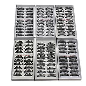 abordables Pestañas Postizas-Pestaña Pestañas Postizas 120 pcs Denso / Natural / Grueso Pestaña Maquillaje Cosmético