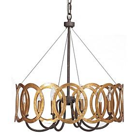 billige Takbelysning og vifter-QINGMING® Candle-stil Lysekroner Opplys Gylden Metall Stearinlys Stil 110-120V / 220-240V Pære ikke Inkludert / E12 / E14